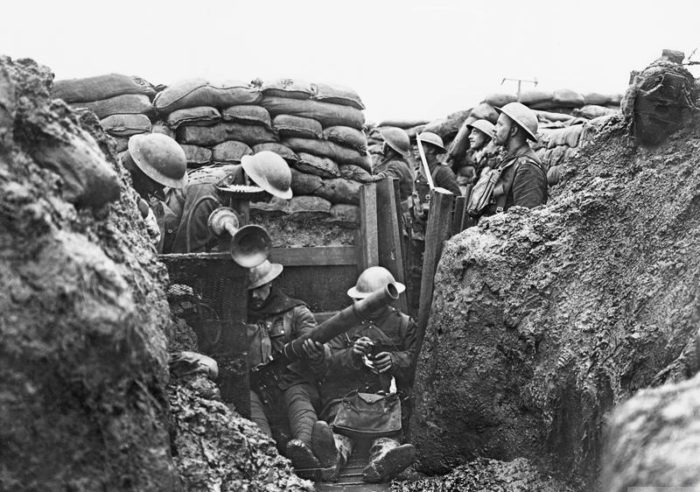 Рис. 6. Окопы на Западном фронте