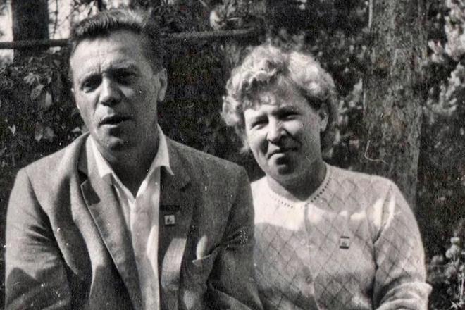 Рис. 4. Виктор Астафьев и его жена Мария